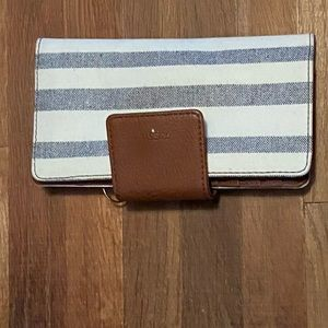 Striped fossil wallet